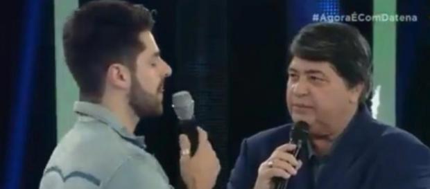 Datena manda beijo para fã morta de Alok (Captura de vídeo)