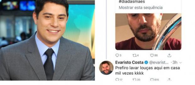 Evaristo Costa revela que prefere lavar louça em casa a voltar para a Globo