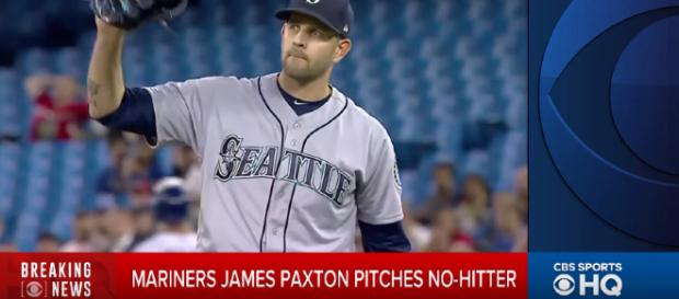 James Paxton Pitched a no-hitter this week. [image source: CBS Sports - YouTube]