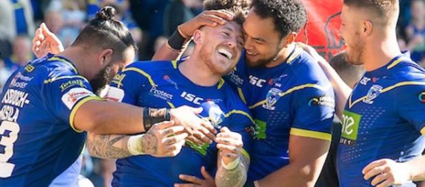 Josh Charnley scored two tries as Warrington hammered Toronto 66-10. Image Source - vtn.co