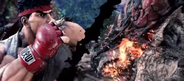 'Monster Hunter: World' and 'Street Fighter' collaboration. - [Image Credit: PlayStation / YouTube screencap]