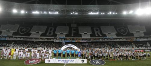 Botafogo x Fluminense, primeiro turno do Brasileirão de 2018. (foto reprodução).