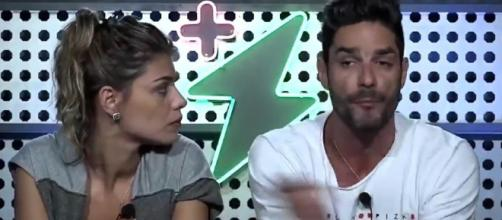 Diego e Fran ex-BBBs que estão no 'Power Couple'. (foto reprodução).