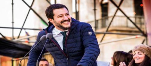 Matteo Salvini capo della Lega Nord il 14 maggio 2018 al Quirinale.