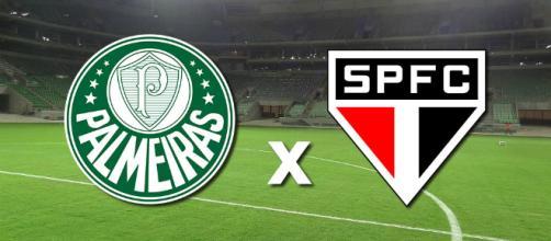 Palmeiras x São Paulo ao vivo, nesta terça. (foto reprodução).