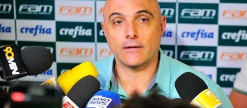 Presidente Maurício Galiotte, em entrevista. (foto reprodução).
