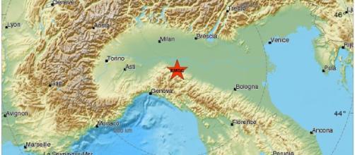 Terremoto Piacenza: tratto da EMSC