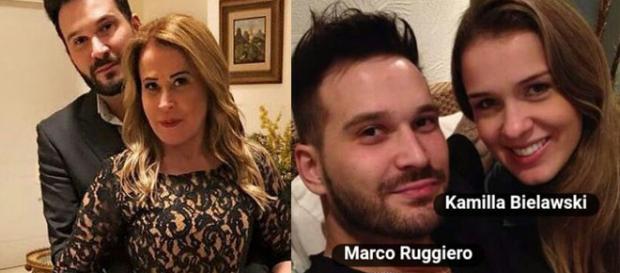 Kamilla e o atual namorado de Zilu Camargo (Foto: Reprodução)