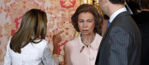 Letizia y Doña Sofía en una imagen de