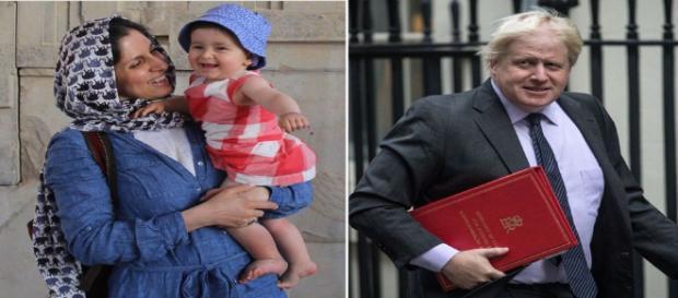 Nazanin Zaghari-Ratcliffe and Boris Johnson via news.sky.com