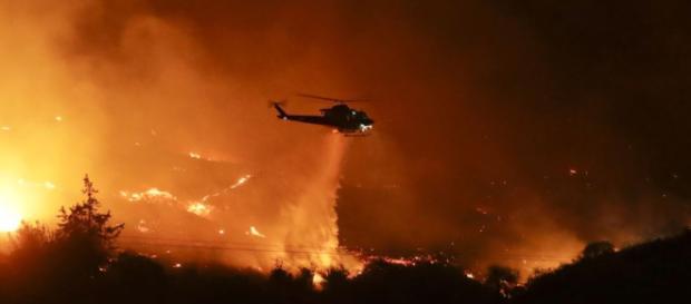 Seis incendios, 200.000 evacuados en California