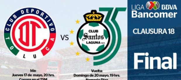 Toluca y Santos juegan en jueves y domingo