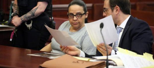 Yoselyn Ortega durante el primer día de su juicio el 1 de marzo de 2018 en Nueva York.