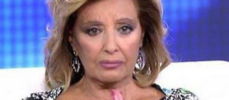 María Teresa Campos, muy hundida.