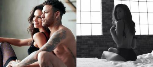 Bruna e Neymar em fotos sensuais para campanha publicitária
