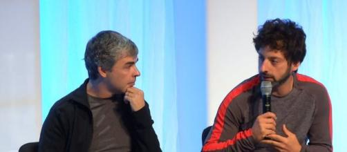 Los fundadores de Google: Larry Page y Sergey Brin.