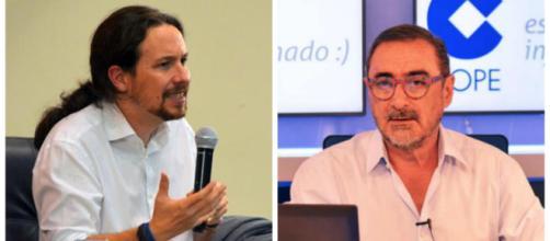 Pablo Iglesias y Carlos Herrera en imagen
