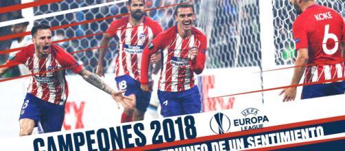 Victoire de l'Atlético au Parc OL (via Twitter)