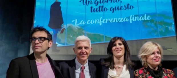 Da sinistra: il direttore Lagioia, il presidente Bray, la sindaca Appendino e l'Assessora alla cultura Parigi