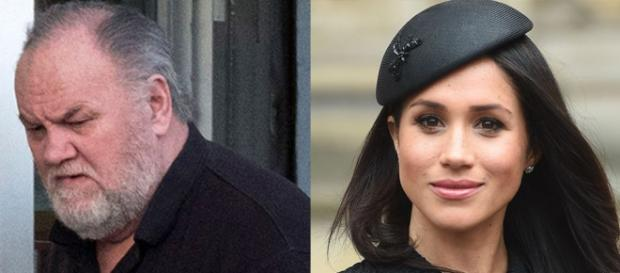Megan Markle (on the right) and the father. Source:hips.hearstapps.com