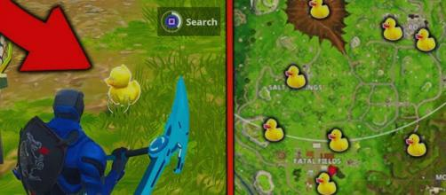 "All rubber duck locations for ""Fortnite Battle Royale"" challenge. Image Credit: Own work"