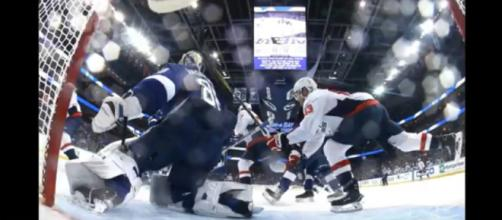 Caps were all business in their 6-2 win over the Bolts. [image source: Daily News - YouTube]