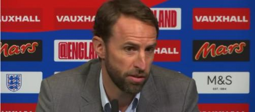 England manager Gareth Southgate during a press conference. Photo courtesy: Guardian News/YouTube screencap