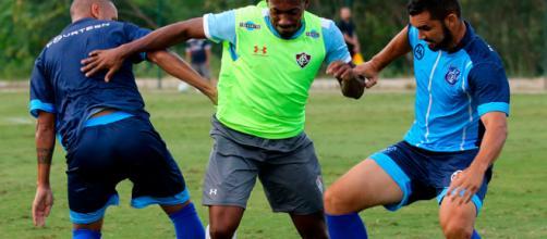 Jogo-treino contra o Olaria marca a reapresentação do Fluminense (Foto: Lucas Merçon)