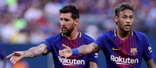Messi e Neymar jogaram juntos no Barcelona