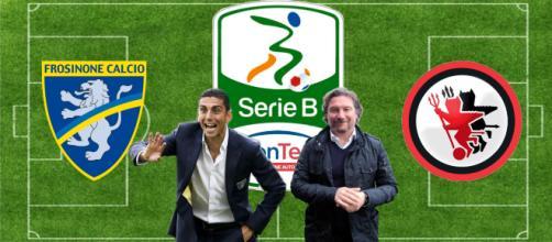 Moreno Longo e Giovanni Stroppa, allenatori di Frosinone e Foggia