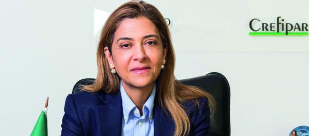 Leila Pereira é a patrocinadora do clube. (foto reprodução).