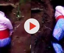 Jovem é executada com dois tiros dentro da própria cova (Captura de vídeo)