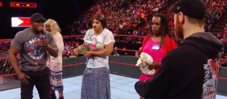 WWE airs problematic, tone-deaf segment on 'RAW.' - [Image Source: WWE / YouTube screencap]