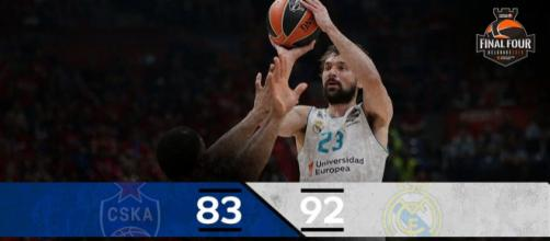 El Real Madrid a un paso de ganar la Euroliga. Fuente: @EuroLeague