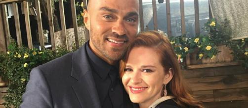 Jesse Williams e Sarah Drew FONTE: Instagram