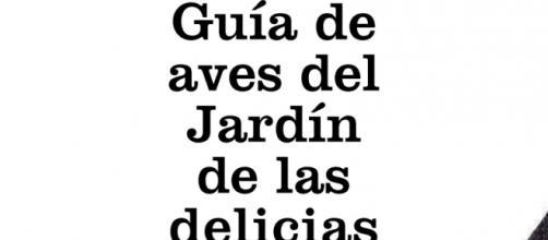 Portada de la Guía de aves del Jardín de las Delicias.