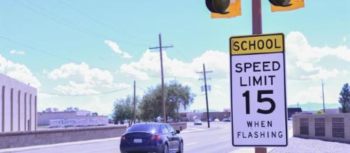 School speed limit sign. [Tech. Sgt. Matthew Rosine, 49th Wing Public Affairs Office / Wikimedia Commons]