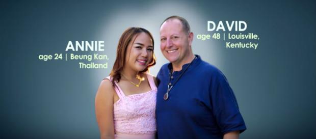 '90 Day Fiance' couple David and Annie. Photo via TLC UK/YouTube