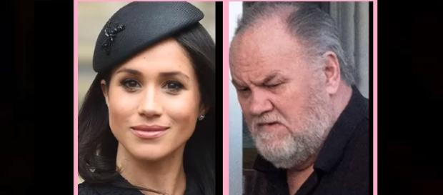 Meghan Markle's father embarrassed. Photo via Gossip and More/YouTube screenshot
