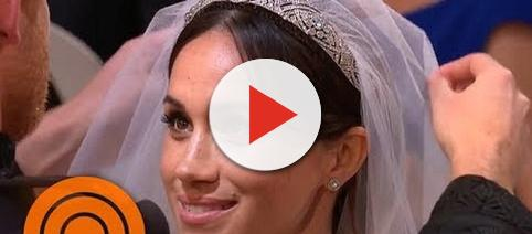Prince Harry lifts Meghan Markle's veil. - [Image: Today/YouTube screenshot]