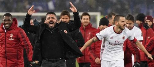 Gattuso 2018 esultanza Ac Milan