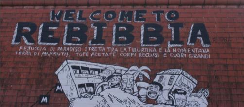 Murales alla stazione della metropolitana di Rebibbia