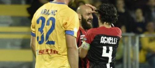 Nella foto della Lega B, Mazzeo esulta con Agnelli dopo la rete del momentaneo 1-0