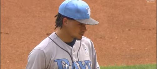 Now is the time for the Rays to trade Chris Aarcher. [image source: MVPFLF/Youtube]