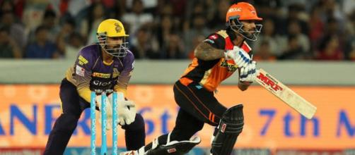 Sunrisers Hyderabad vs Kolkata Knight Riders, IPL 2017, live . (Image via IPL2018/Twitter)