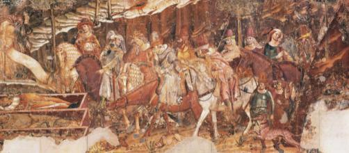 Una sezione del celebre affresco dipinto da Buffalmacco tra il 1339 ed il 1341