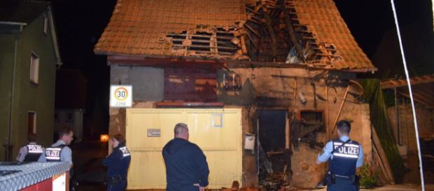 Der Dachstuhl brannte teilweise aus. Foto: sinsheim.tv/Buchner