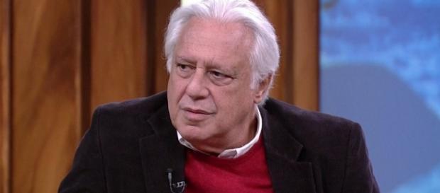 O ator negou que as imagens sejam realmente suas e se diz vítima de 'fake news' (Reprodução/TV Globo)