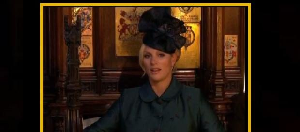 "Zara Tindall's facial expression goes viral as one ""bored"" wedding guest.[Image Credit: Top 24h News/YouTube screenshot]"