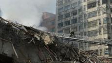 Prédio sofre incêndio e desaba no centro de SP; 44 ainda não foram localizados